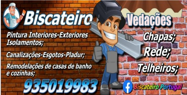 Biscateiro Portugal trabalhos de construção civil