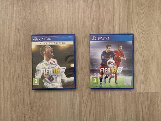 Zestaw Fifa 18 & Fifa 16 PlayStation 4 PS4