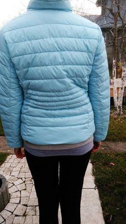 Okazja! Śliczna niebieska kurtka pikowana