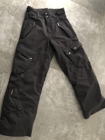 Spodnie snowboardowe męskie czarne narciarskie