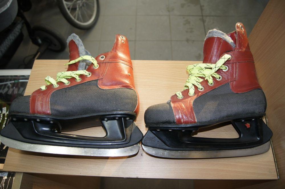 Łyżwy hokejowe skórzane R42 Lombard Tarnów