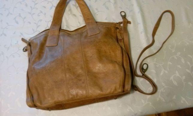 OKAZJA skórzana torebka duża pojemna PREZENT dla żony mikołaj święta