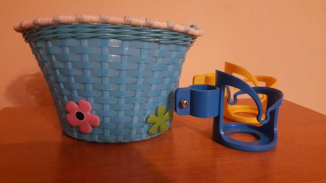 Koszyk rowerowy dla dziecka + uchwyt na bidon