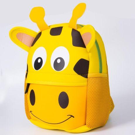 Новый детский рюкзак Tochang 3-D Жираф 1-7 лет неопрен