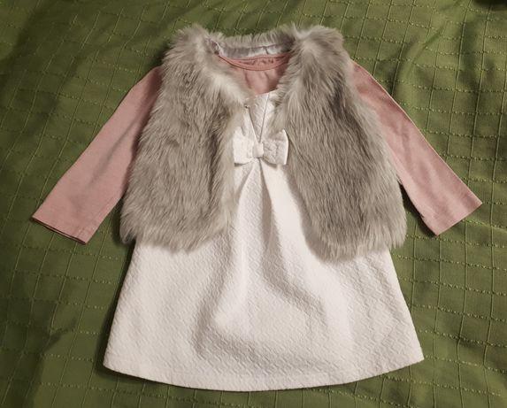 Wysyłka 1zł Komplet sukienka, bluzka, bolero r.98 Young Dimension