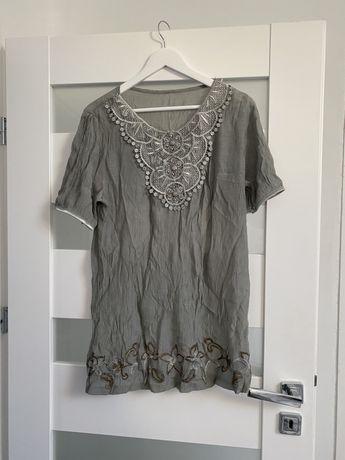 Bluzka z haftami wzory rozmiar 46