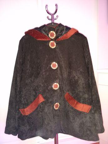 Новое вельветовое пальто, большой размер 56.