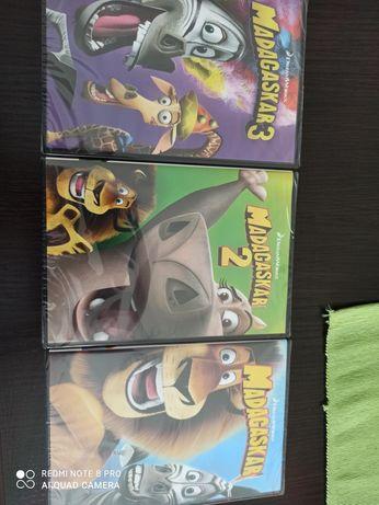 Madagaskar Dvd 3 czesci nowe