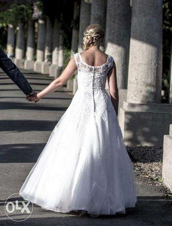 Suknia ślubna koronkowa ATRAKCYJNA CENA