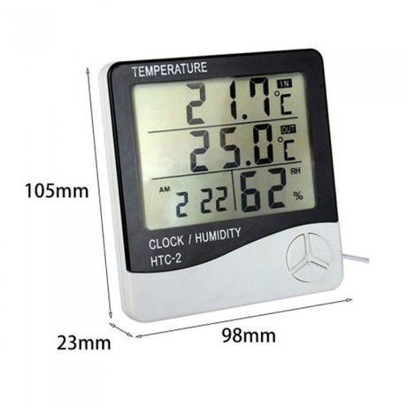 Термометр, гігрометр, метеостанція, годинник HTC + виносний датчик
