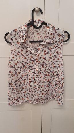 Koszula w kwiatki Pull&Bear bez rękawków