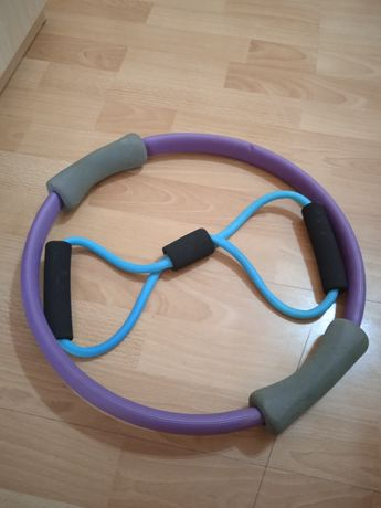 Koło obręcz do ćwiczeń pilates + ekspander gumowy
