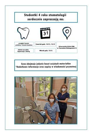 Studentki IV roku stomatologii zapraszają na leczenie !!