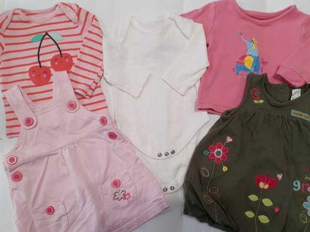 MEGA PAKA Ubranka dziewczęce 62/68 + GRATISY wyprawka dla dziewczynki