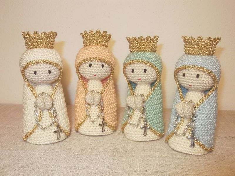 Nossa Senhora em Crochet perfumada Lavradas - imagem 1