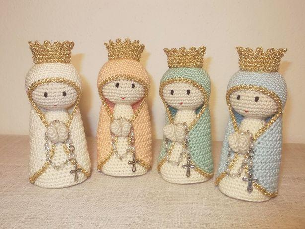 Nossa Senhora em Crochet perfumada