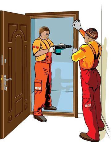 Установка міжкімнатних дверей та столярні роботи