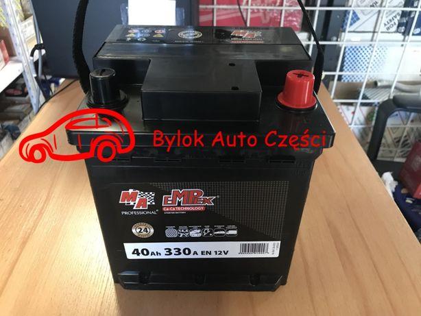 """AKUMULATOR 40AH/330A """"Moje Auto"""" NOWY!!! Prawy+ """"Bylok Auto Części"""""""