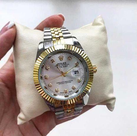 Женские часы Rolex Date Just, металлические часы Ролекс серебряные