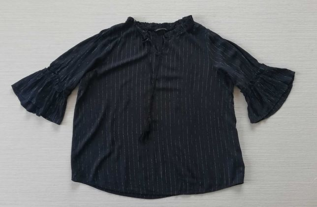 Granatowa bluzka z mieniącą nitką 48/50