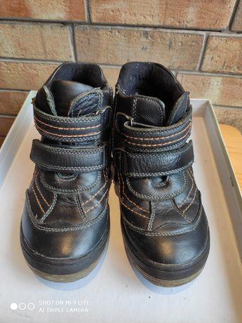 Ботинки кожаные деми для мальчика стелька 18 см