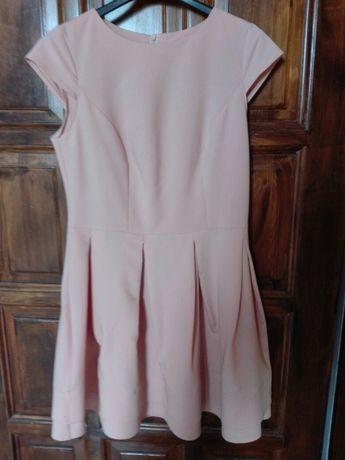 Brzoskwiniowa sukienka r. M