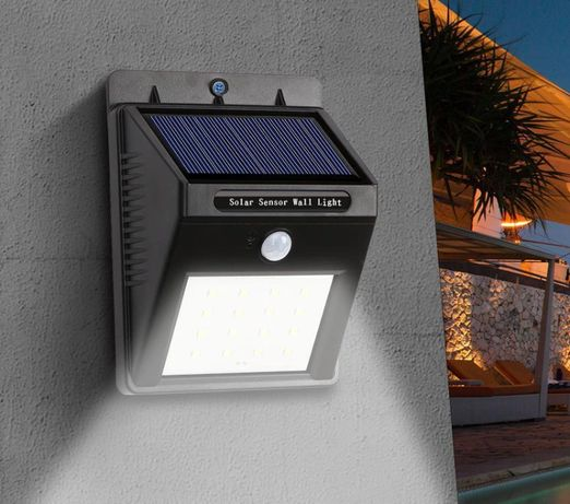 Яркие светильники с датчиком движения и на солнечной батарее! НА ДАЧУ.
