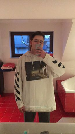 Bluza off white arrows hoodie L