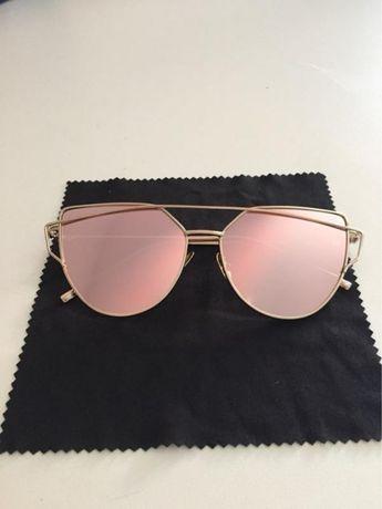 Крутые солнцезащитные зеркальные очки розовое зеркало Monster Gentle