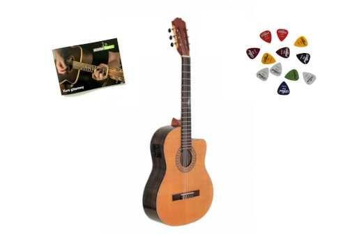 Elektro-klasyczna Gitara Walnut CEQ 4/4 Deluxe + Wysyłka GRATIS!