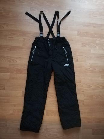 Spodnie na śnieg śniegowce męskie na szelkach zimowe XL