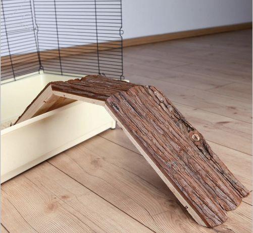 Drewniany Mostek do klatki dla świnki morskiej królika 63x18x15cm