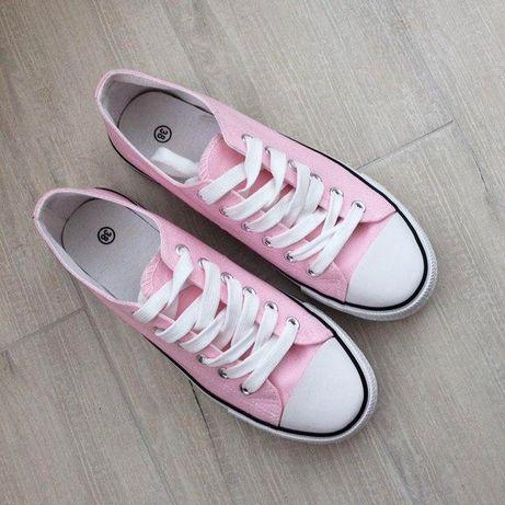 Розовые женские кеды на лето