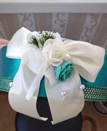 Свадебное сито цвета изумруд