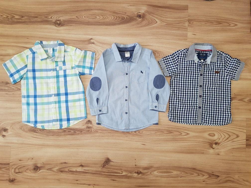 Elegancka koszula zestaw 3 szt H&H, Cool Club rozm 86 i 92