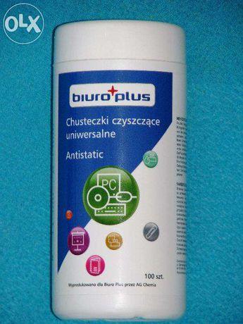 Chusteczki czyszczące uniwersalne antystatyczne Biuro Plus 100 szt.