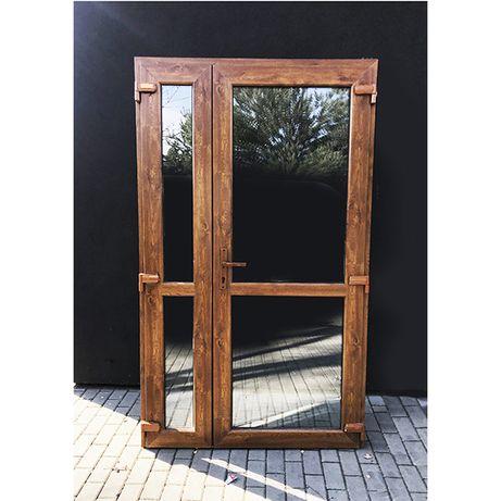 Drzwi PCV 140x210 Złoty Dąb