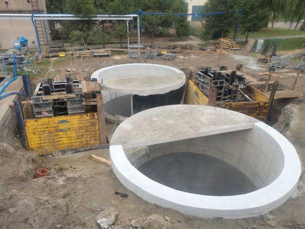 Zbiorniki żelbetowe, konstrukcje żelbetowe, budownictwo ogólne