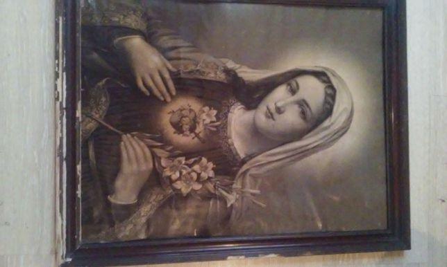 ...MEGA OKAZJA...Obraz Serce Matki Boskiej z uwaga 1899roku OKAZJA