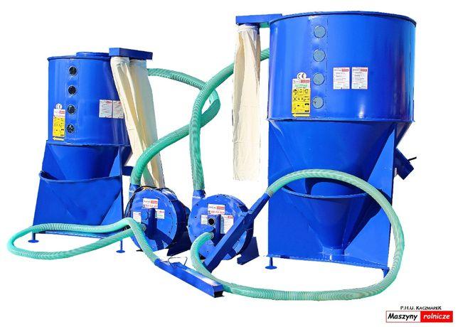 ZESTAW PASZOWY mieszalnik pasz 500 kg+ śrutownik 7,5 kW Transport
