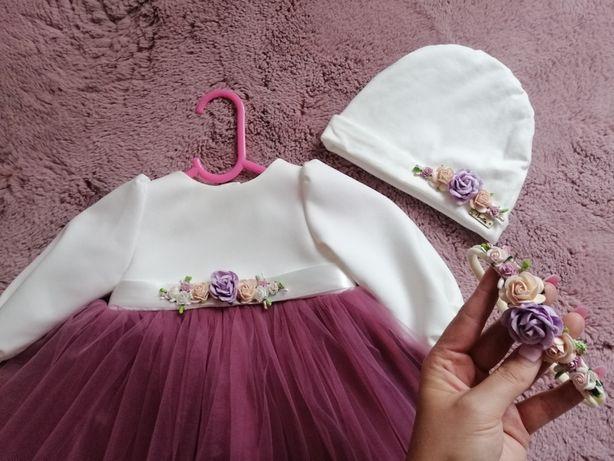 Komplecik /sukienka dla dziewczynki w rozmiarze 74