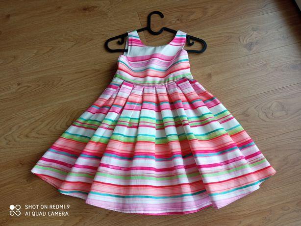 Niepowtarzalna sukienka wizytowa z Londynu roz. 110/116 (5 lat)