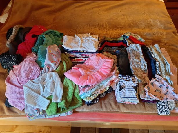 Zestaw ubrań dla dziewczynki 98/104, 66 szt.