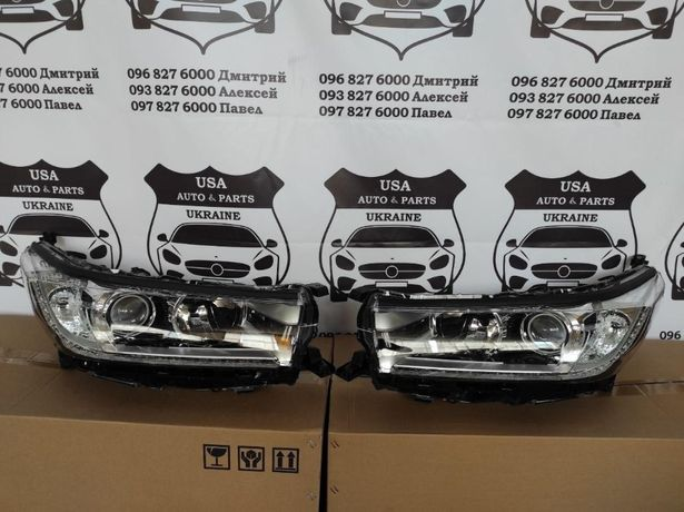 Фары Toyota Highlander 2015-20 Капот Двери Бампер Решетка Туманка
