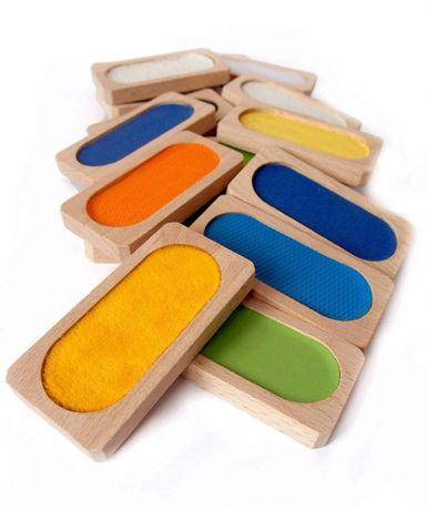 Memo dotykowe drewniane Montessori
