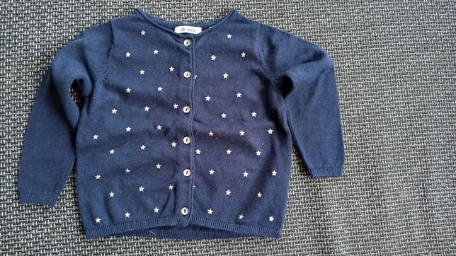 Sweterek sweter granatowy w gwiazdki