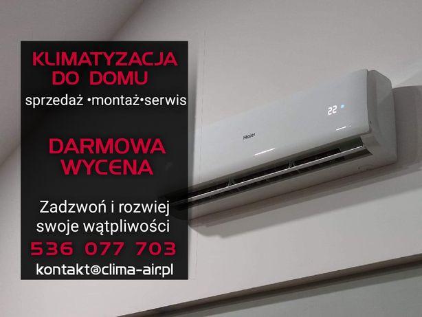 Klimatyzacja Montaż Demontaż Serwis LG Haier Gree Fujitsu Samsung