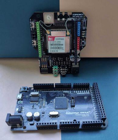 GPS/GPRS/GSM V3.0 шилд SIM908 | Контролер Arduino Mega 2560 R3 (CH340)