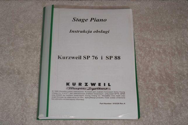 Instrukcja obsługi do Kurzweil Steige Piano SP-76 I SP-88 w j. polskim