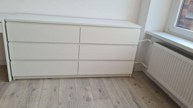 Komoda z szufladami Ikea Malm biała